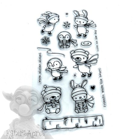 Snow Critters Stamp Set from Kater's Acres