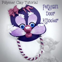 Penguin Door Knocker Polymer Clay Tutorial by KatersAcres