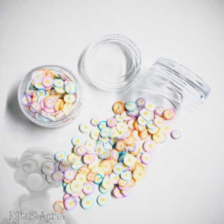 Millefiori Pastel Flower Cane Slices from Kater's Acres