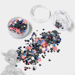 Patriotic Crystals & Slices Mini Jar from Kater's Acres