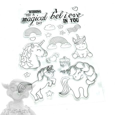 Unicorn Stamp Set from Kater's Acres