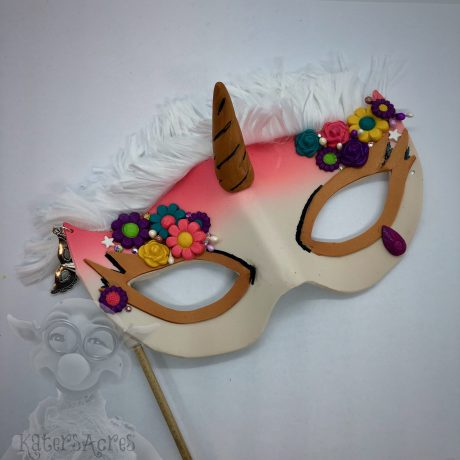 Polymer Clay Unicorn Mask by KatersAcres