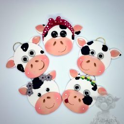 Cow Ornaments by Kater's Acres