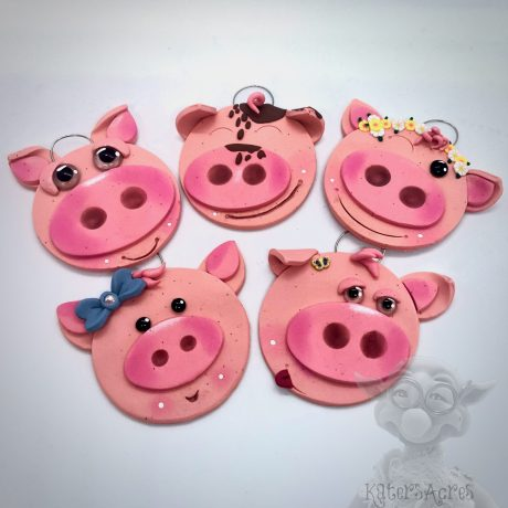 Pig Ornaments by Kater's Acres