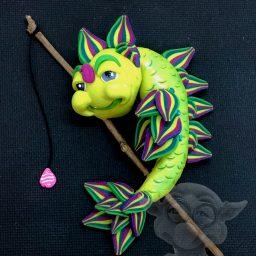 Green Fantasy Fish by Katie Oskin