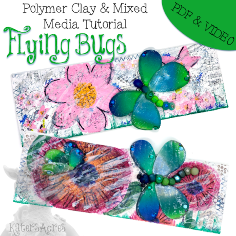 Flying Bugs Mixed Media Tutorial by Katie Oskin