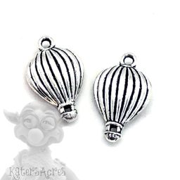 Hot Air Balloon Charms, Set of 2 from Kater's Acres