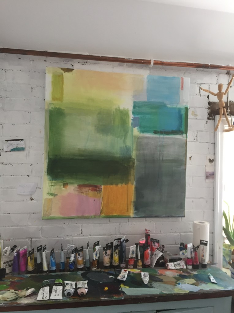 IMG_9771How the paintings start - Upsurge-Turquoise