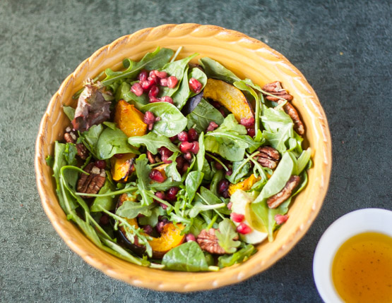 Acorn Squash and Pomegranate Salad