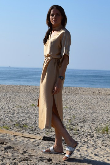 Kate Stoltz NYCGold Silk Dress