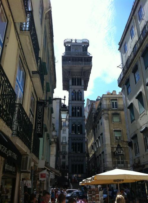 Santa Justa Elevator connects Baixa with Barrio Alto