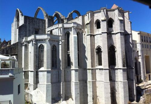 Igreja do Carmo aka Carmo Church and Convent lost its roof during the earthquake of 1755