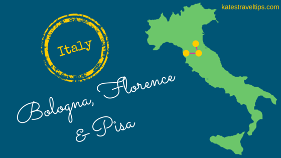 Map Of Italy Showing Pisa.4 Days In Italy Visiting Bologna Florence Pisa