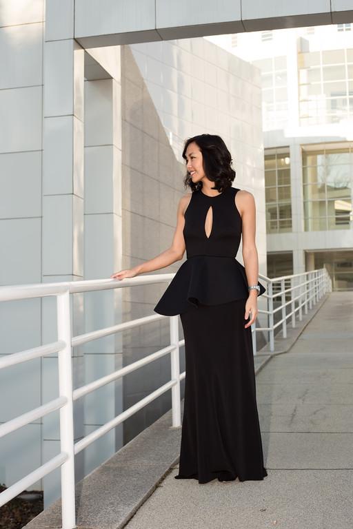 Kate Style Petite -  ASOS PETITE Peplum Plunge Maxi Dress - Black • Asos • $85.28
