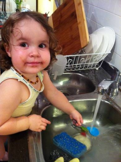 Margo Helps Do the Dishes