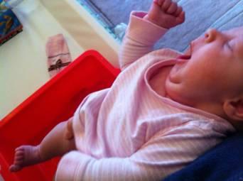 Doing Elimination communication in her sleep