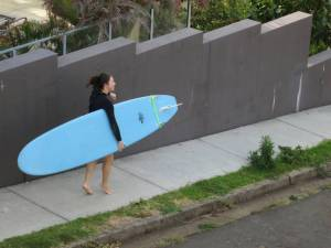 Kate Goes Surfing