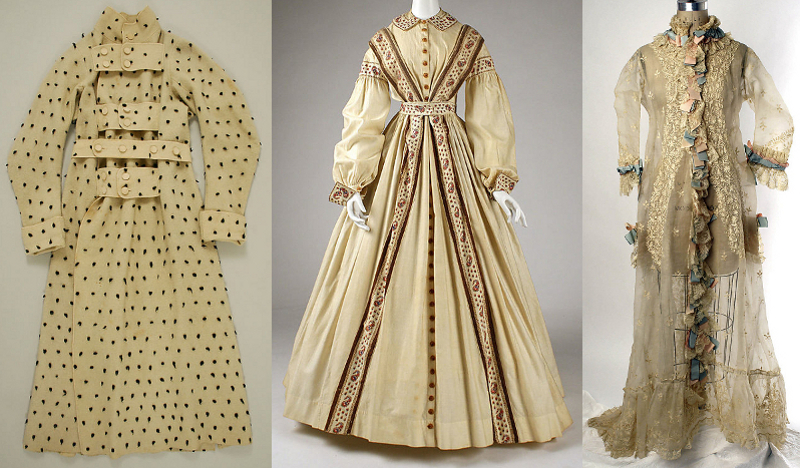Early Victorian Nightclothes; Casual Cosy Attire For