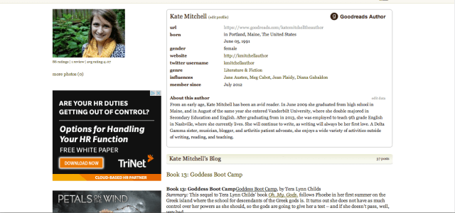 Kate Mitchell on Goodreads