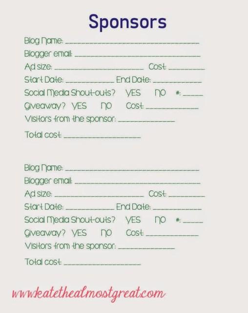 free downloadable blog binder printables