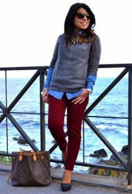 cranberry pants