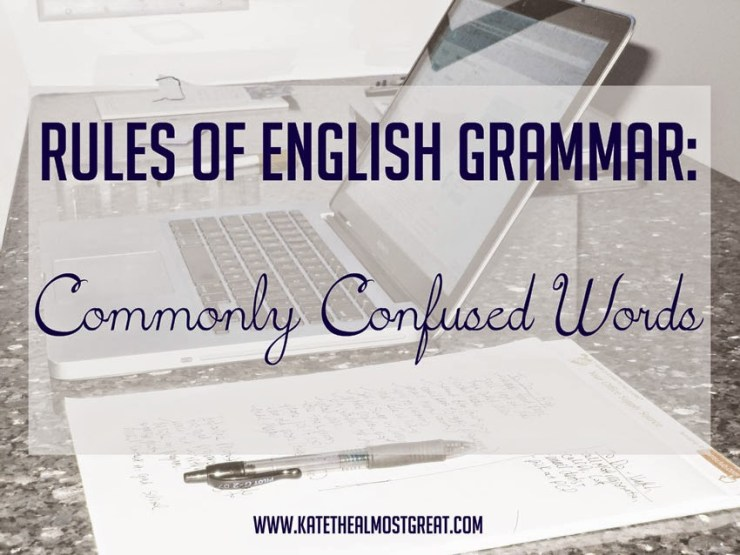 rules of English grammar