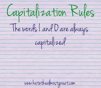capitalization rules for essays English rules with examples about grammar, punctuation and capitalization provided by the blue book of grammar and punctuation.
