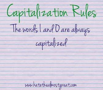 English Capitalization Rules