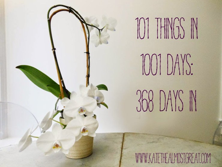 101 Things To Do in 1001 Days Kate the (Almost) Great
