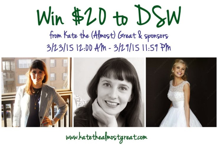 DSW Giveaway - Kate the (Almost) Great