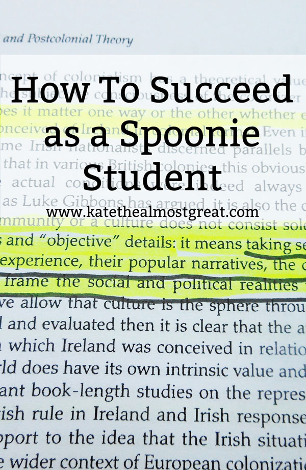 How To Succeed as a Spoonie Student