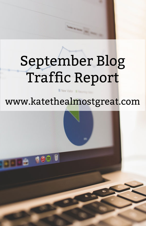 September Blog Traffic Report - Kate the (Almost) Great