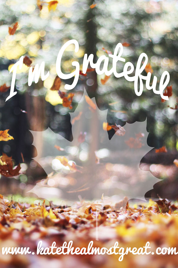 I'm Grateful | Kate the (Almost) Great