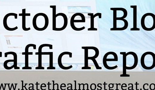 October Blogging Traffic
