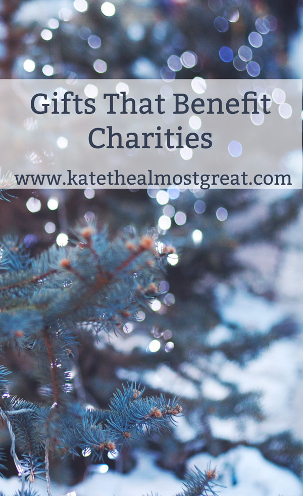 Gifts That Benefit Charity
