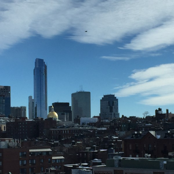 The view of Boston from Massachusetts General Hospital