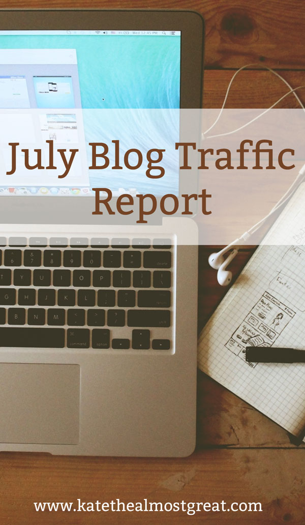 Increase Blog Traffic: July Traffic Report