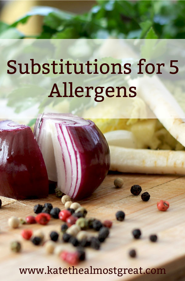 5 Food Substitutions for Allergies & Sensitivities