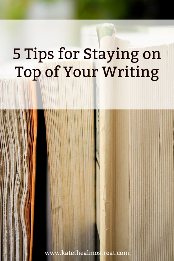 Even if you're not doing NaNoWriMo this year, if you write, you've had writing struggles. Check out these 5 tips for staying on track, even if you hit writer's block!