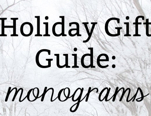 Monogram and Preppy Gift Ideas