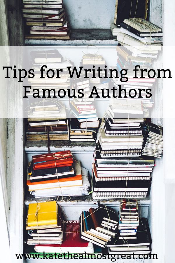 Looking for writing inspiration? Turn to the greats! Eleven quotes from famous authors featuring tips for writing.