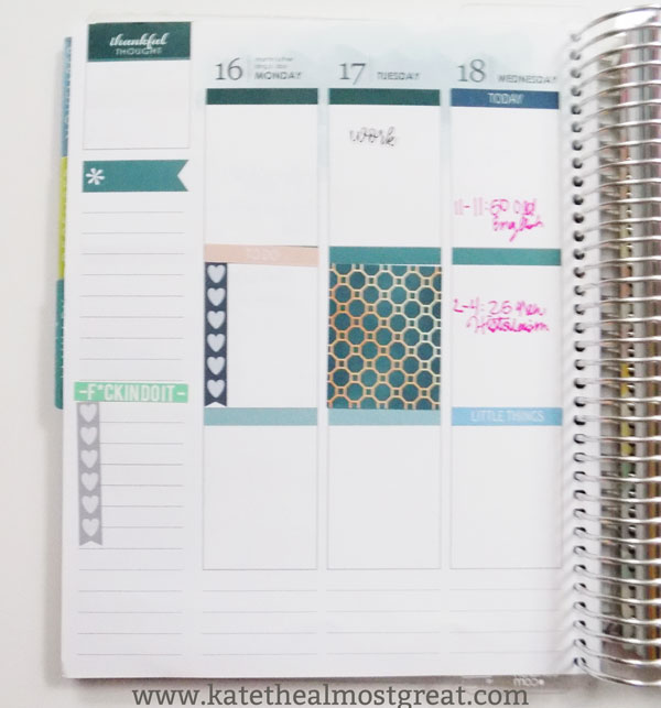 How to use the weekly layout of your Erin Condren life planner