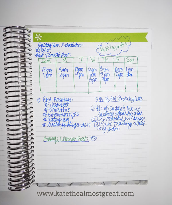 How to use the notes section of the Erin Condren life planner