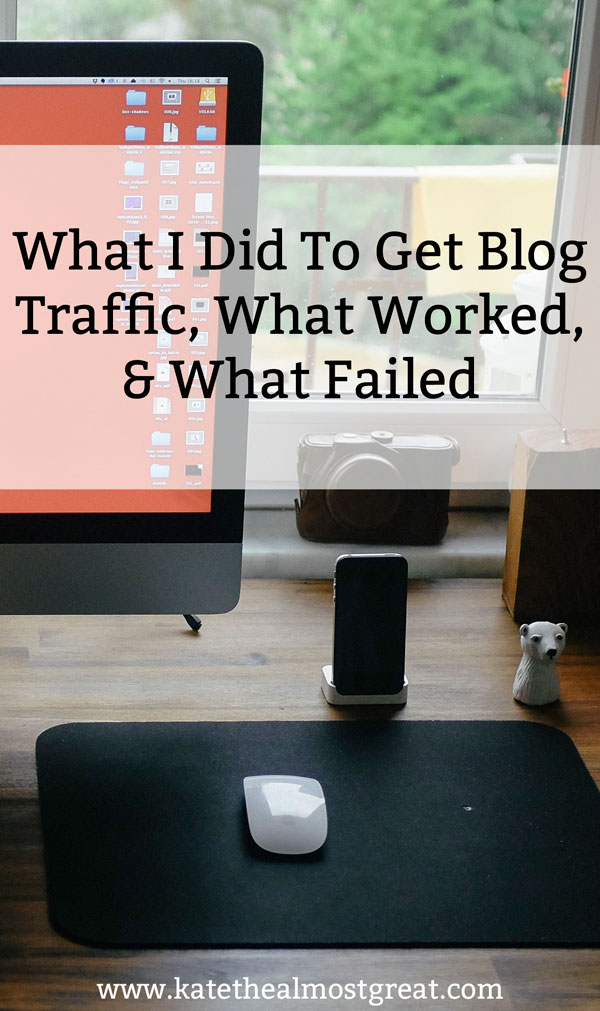 What I did in January to get blog traffic, what worked, and what didn't. PLUS, I'm sharing the new strategy I'm trying.