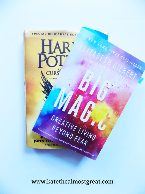 Sharing my thoughts on Harry Potter and the Cursed Child, Big Magic, and Written in My Own Heart's Blood