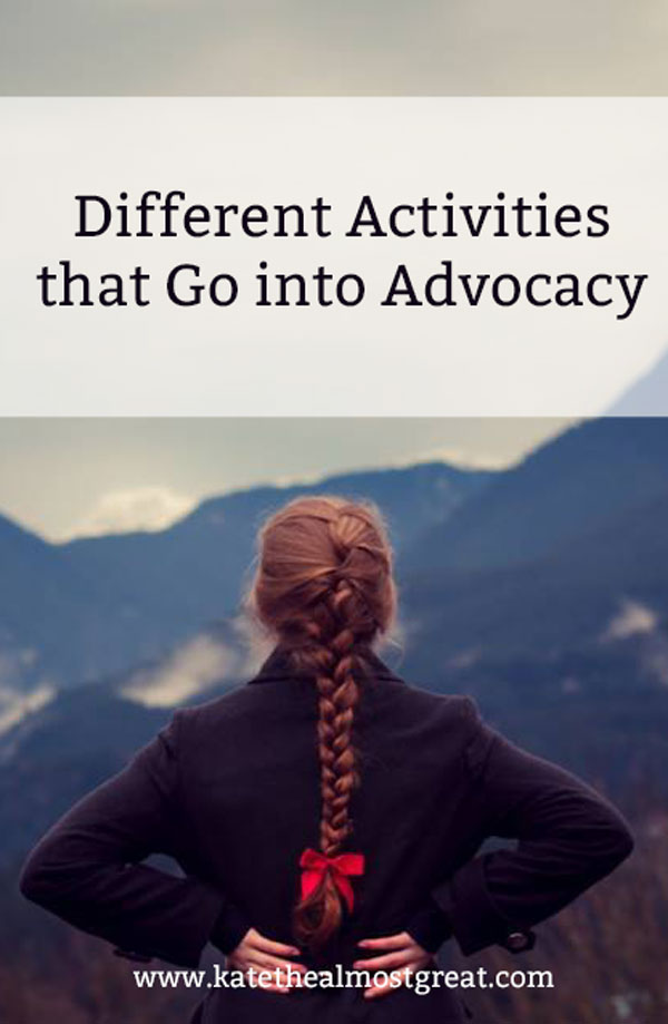What goes into advocating for patients, including different activities that are a part of advocating.