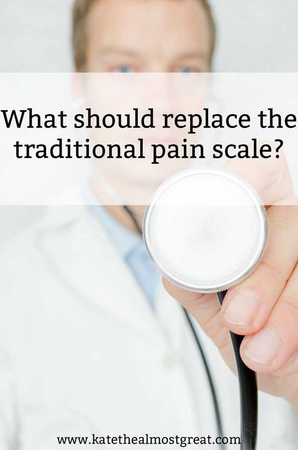 If we have issues with the traditional pain scale, what should replace it? Here are a couple of ideas of what should go into a replacement and what needs to be included.