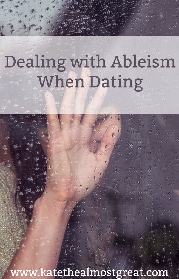 One of the unfortunate aspects of dating when you have a chronic condition is ableism. How do you address it? When is it worth pursing something? How do you educate them?