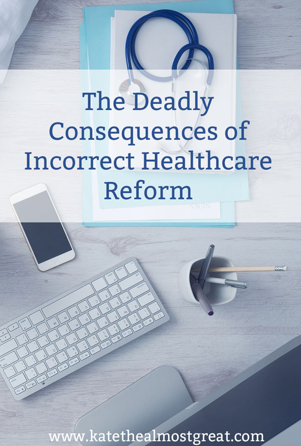 Over the last 9 months, there have been several attempts to reform or repeal the Affordable Care Act. But if that is done incorrectly, it can have literally deadly consequences. Chronic illness patients as a whole massively benefit from the ACA, and some of those are people who will die without certain provisions remaining. Not next year, not in ten years, but within months.