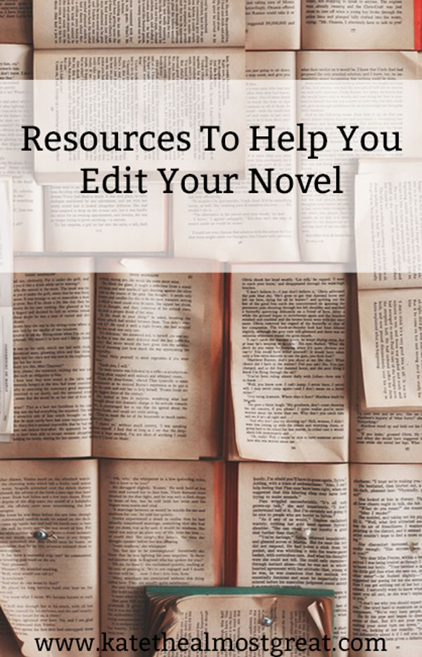 Now that you've finished your first draft, it's time to edit your novel. I've pulled together resources from people who are experts in editing so you can edit your novel to the best of your ability.